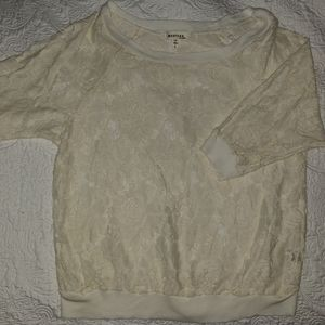 Cream lace shirt